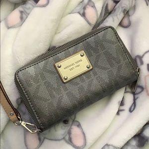 Silver grey MK wallet/wristlet